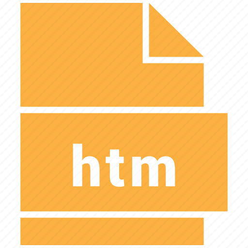 htm, website file format icon