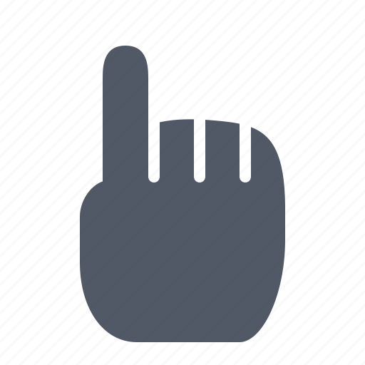 cursor, finger, hand, pointing, website icon