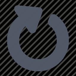 arrow, refresh, return, round icon