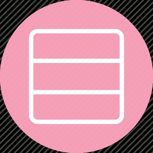 columns, horizontal columns, responsive app, responsive design icon