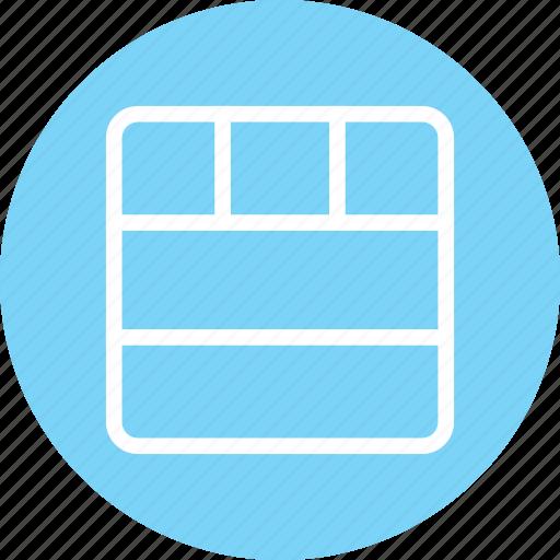 horizontal columns, responsive design, web design, website layout icon
