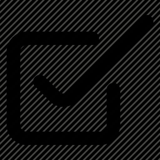 box, check, website icon