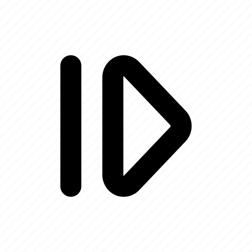 arrow, frame, step icon