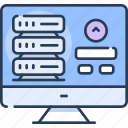 connection, database, ftp, login, secure, server, web icon