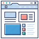 seo, social network, web designing, web window, webpage, website sitemap icon