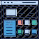 network sitemap, seo, social network, web designing, web window, website sitemap icon