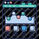 seo, social network, web designing, web window, website sitemap icon