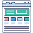 seo, social network, web designing, web window, website sitemap, website structure icon