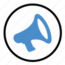 announcement, broadcast, communication, loud, megaphone icon