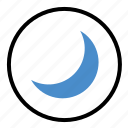moon, night, sky, star, twilight icon