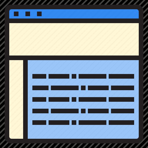 analytics, browser, business, online, seo, website icon