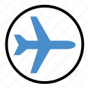 airplane, flight, fly, plane, shipping, travel icon