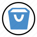 bucket, container, storage, store, tool icon