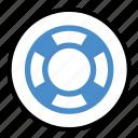 help, lifebuoy, lifesaver, rescue, support, travel icon