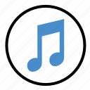audio, mark, music, note, sign, sound icon