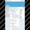 design, program, twitter, website icon