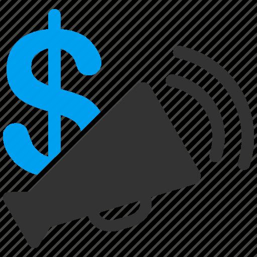 advertisement budget, marketing, media, message, news, radio, sound icon