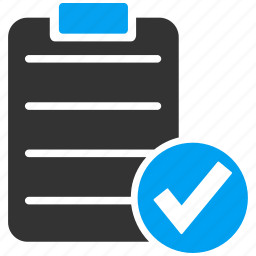 check, form, items, list, ok, report, test icon