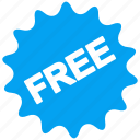 badge, free, freemium, gift, offer, present, prize icon