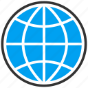browser, earth, globe, map, sphere, travel, world icon