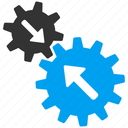 business tools, connect, connection, gear, integration, link, system settings icon
