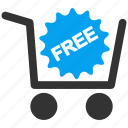 cart, free, freemium, gift, offer, present, prize icon