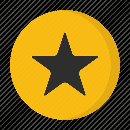 badge, favourite, orange, star icon