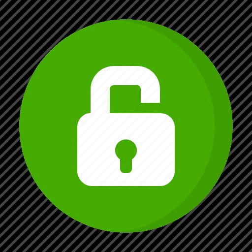 lock, open, unlocked icon
