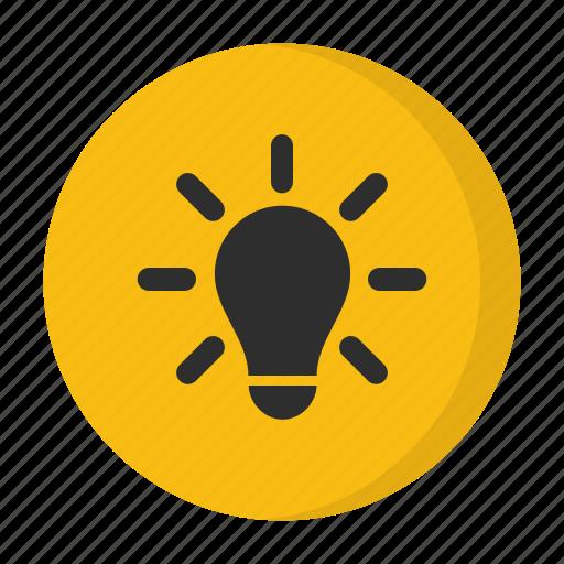 creative, idea, lightbulb, think icon
