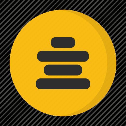 alignment, center alignment icon
