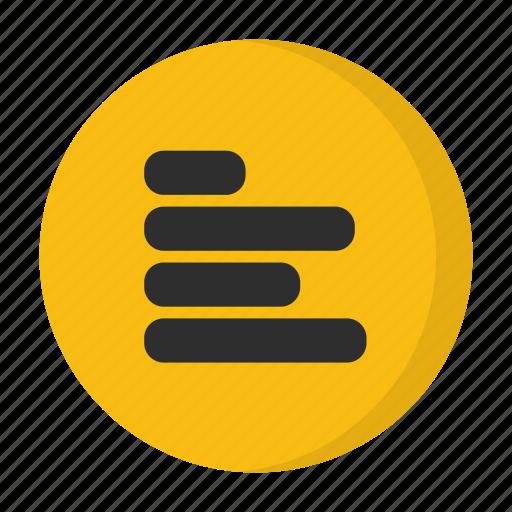 alignment, left align icon