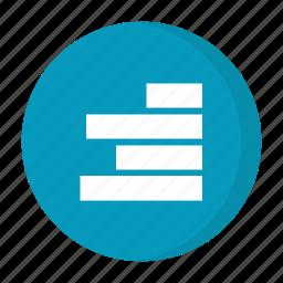 alignment, right alinment icon