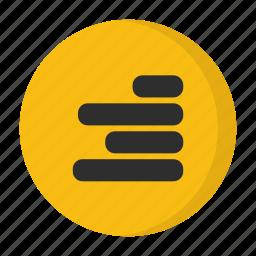 alignment, right alignment icon