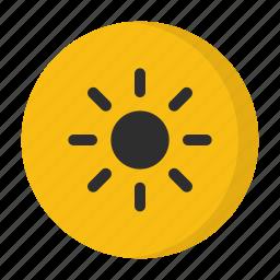 bright, brightness, sun, weather icon