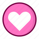 favorite, heart, love, pink icon