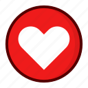 favorite, heart, red icon