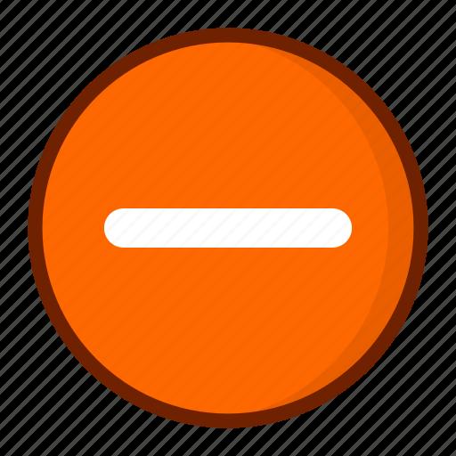 delete, minus, remove, subtract, subtraction icon
