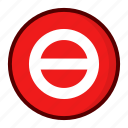 entry, no, red icon