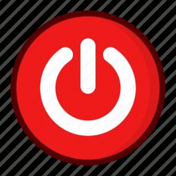 off, on, power, shutdown icon