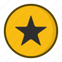 badge, favourite, orange, star icon