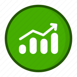analytics, chart, finance, graph, growth, market, stock icon