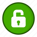 lock, open, unlocked icon