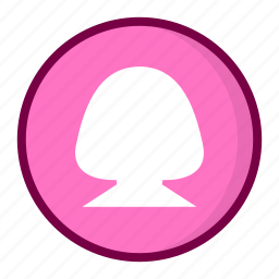female, girl, person, profile, user, users icon