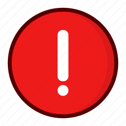 alert, attention, caution, error, exclamation, rounded, warning icon