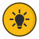 creative, idea, lightbulb, think icon