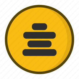 alignment, center align, text alignment icon