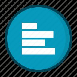 alignment, left alignment, text alignment icon