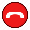 call end, drop icon