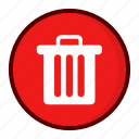 delete, dust bin, garbage, pan, recycle bin, remove