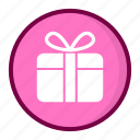 gift box, package, present, ribbon, suprise icon